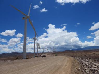 Lake Turkana wind system. Vestas photo.