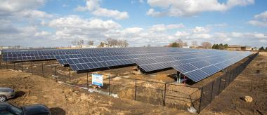 Simple Solar project in Cedar Falls. Cedar Falls Utilities photo.