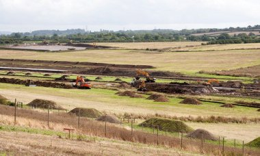 A view of the proposed site for Hinkley Point C in Somerset. Photograph: Geoff Pagotto / EDF