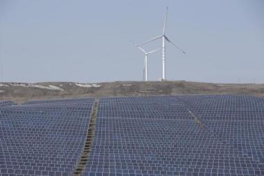 Wind turbines and solar panels in China. Reuters/Jason Lee