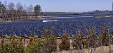 Apple's solar farm near Newton, North Carolina. Mark Hames mhames @ charlotteobserver.com