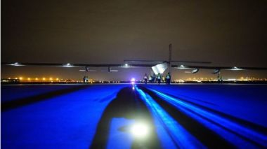 Solar Impulse's flight from Tulsa was fairly short, compared to some earlier stages. EPA.