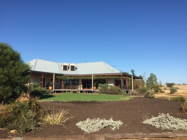 Peter Long's off-grid family home near Gunnedah, NSW. Photo: Supplied.
