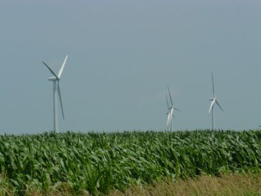 Wind turbines. Credit: D. O'Keefe, Michigan Sea Grant. CC BY-SA 2.0. Wikimedia Commons.