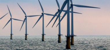 Offshore windpower in the Netherlands.