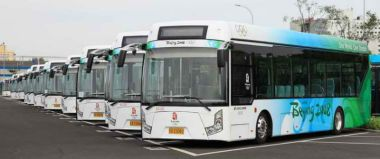Electric buses in China.
