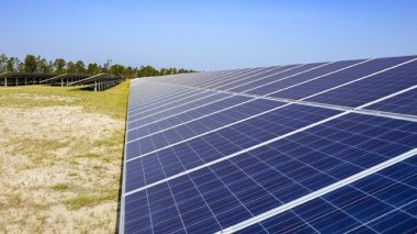 The Fort Benning solar site uses nearly 134,000 PV panels. Photo courtesy of Georgia Power
