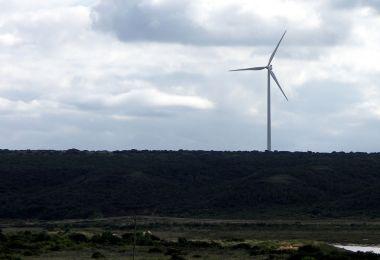 Wind turbine in the Coega Industrial Development Zone in the Eastern Cape. Photo by NJR ZA. CC BY-SA 3.0 unported. Wikimedia Commons.