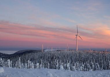 Northland's Mont Louis wind farm in Quebec (Northland Power image)