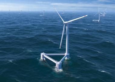 Windfloat turbine. Principle Power image.