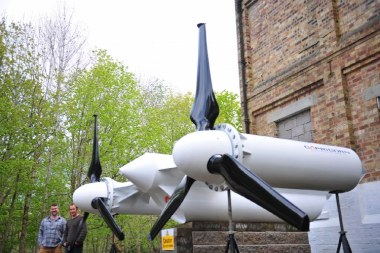 Capricorn Turbine prototype. Renewable Devices photo.