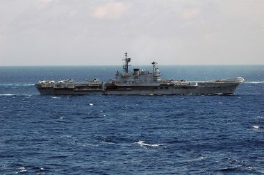 Indian Navy aircraft carrier INS Viraat. US Navy photograph. Public domain. Wikimedia Commons.