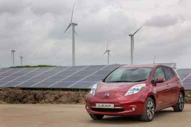 Nissan solar and wind farm in the UK.