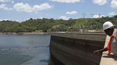Lake Kariba is drying up, and so is Zambia's electricity supply. (Reuters/Philimon Bulawayo)