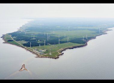 A wind farm at North Cape, PEI, had a capacity factor of 69% for the entire month of January. Photo Wind Energy Institute of Canada