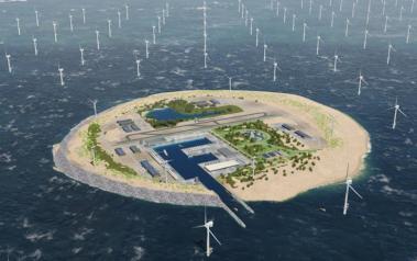 The island. Image by Tennet (www.tennet.eu).
