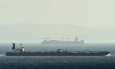 Dirty business: cargo ships in the English Channel. Photograph: Toby Melville/Reuters