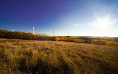 The Bull Creek Wind Facility. Source: BluEarth Renewables Inc. License: All Rights Reserved