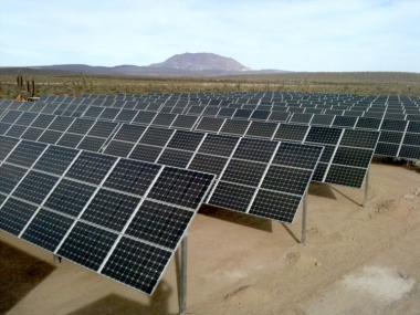 The 50-MW project is expected to generate up to 93 GWh of electricity annually. Image: Hive Energy
