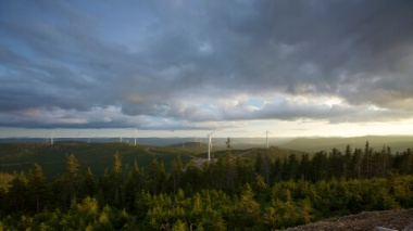 The 74-MW Mont Rothery Wind Farm in Quebec. (Credit: Business Wire)