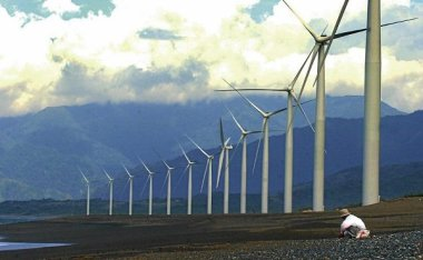 Philippine wind turbines. AFP file photo.