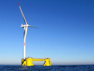 Windfloat system in action off Portugal (Principle Power image)