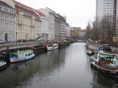 The Spree, Berlin. Photo by Botaurus stellaris. CC BY-SA 2.5. Wikimedia Commons.