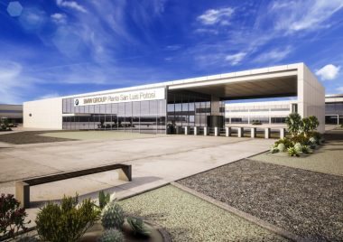 Image of BMW plant in Mexico.