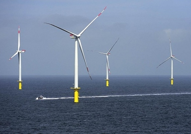 Riffgat offshore wind farm in the German North Sea (EWE image)