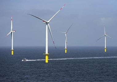 Riffgat offshore wind farm in the German North Sea (EWE image)