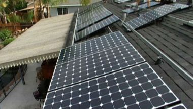 Solar panels on a San Diego home. Courtesy San Diego County News Center