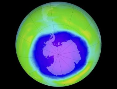 The researchers believe that healing of the ozone hole has begun in the stratosphere above Antarctica. SPL