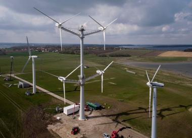 Vestas multi-rotor wind machine. Vestas image.