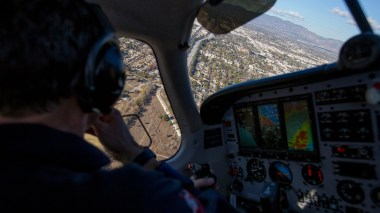 Flying over the Aliso Canyon natural gas leak.