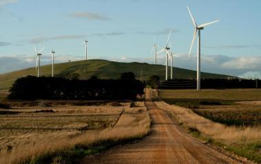 Australian wind farm. Author: Steven Caddy. License: Creative Commons, Attribution 2.0 Generic