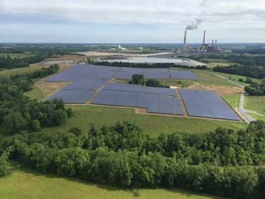 LG&E and KU inaugurated a 10-megawatt solar power array in Burgin in Mercer County.