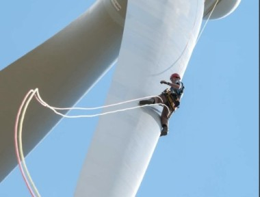 Maintaining a wind turbine. It is easier than nuclear.