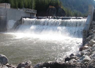 Run of river hydro power plant intake. Alterra photo
