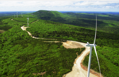 Wind farm in Maine.