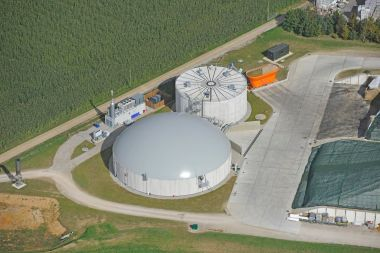 An anaerobic digester system in the UK.
