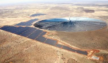Rendering of the Redstone Solar Thermal Power Plant. Credit: Supplied
