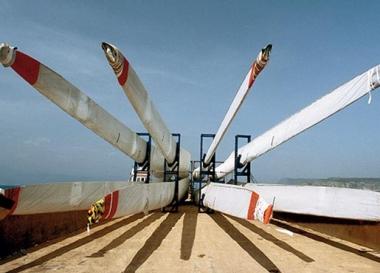 V110 wind turbine blades. Credit: Vestas