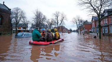 Flooding in the UK. PA image.