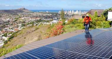 New solar installation in Hawaii. Photo: Cathy Bussewitz, AP