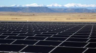 Solar farm in California. Copyright 2016 Gulf California Broadcasting.