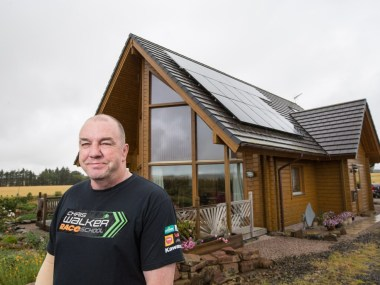 Russell Quinlan at his home, near Fyvie.