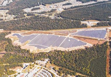 The Camp Lejeune Solar Facility. Duke Energy Progress photo.