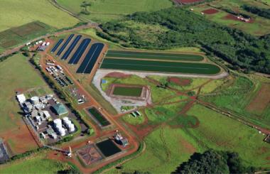 """""""Raceway"""" type algae farm courtesy of Global Algae Innovations."""