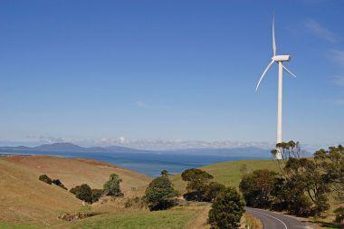 Wind turbine in Toora, Victoria. Photo by fir0002 | flagstaffotos.com.au. CC BY NC. Wikimedia Commons.