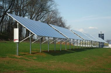 Solar array. US Dept of Agriculture photo. Public domain. Wikimedia Commons.
